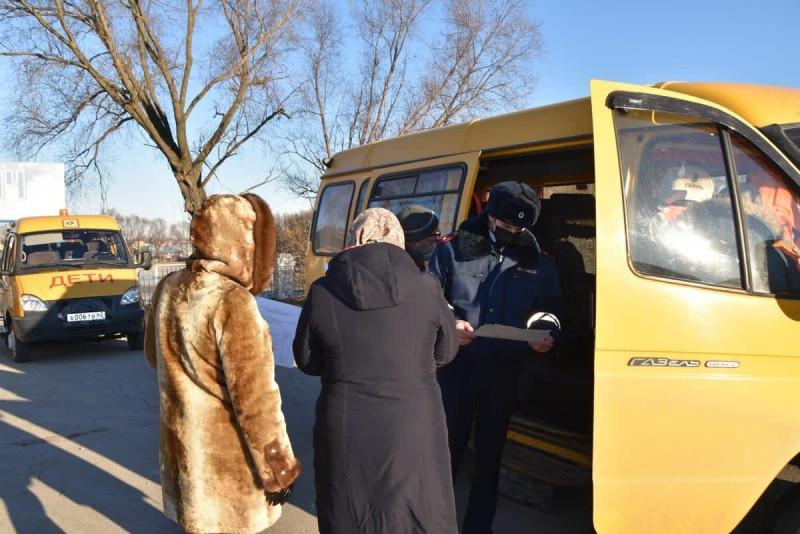 В Спасском районе Рязанской области проверили школьные автобусы