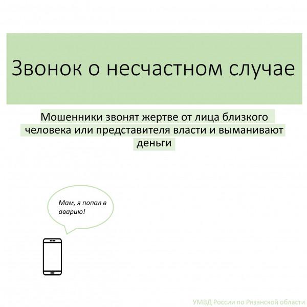 Четыре жителя Рязанской области стали жертвами телефонных мошенников