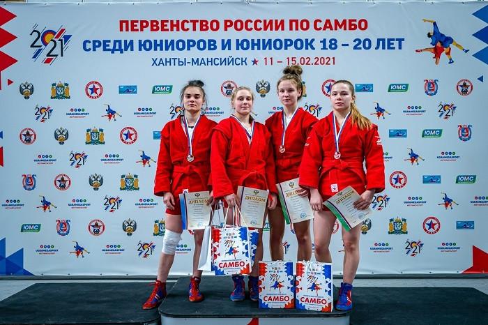 Рязанская самбистка из «Юпитера» Диана Филина завоевала «бронзу» первенства России